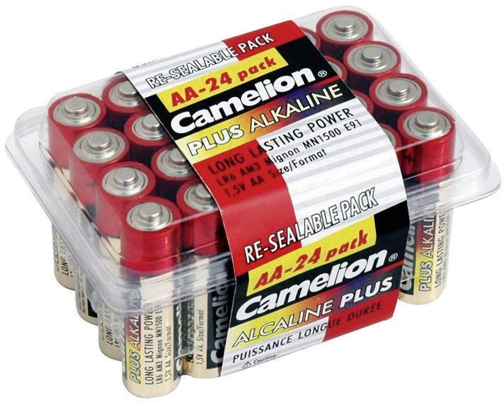 24 alkalických batérií Camelion Mignon (AA)