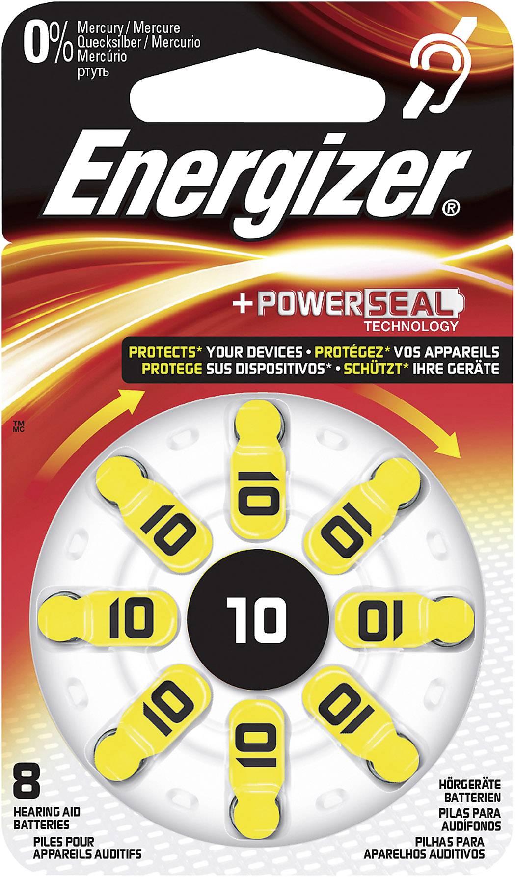 Knoflíková baterie ZA10, Energizer PR70, zinek-vzduch, vhodné do naslouchátek, 8 ks
