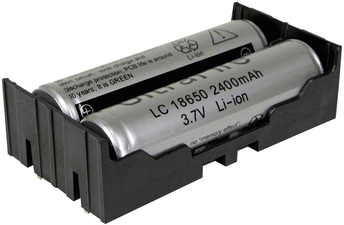 Držák na Li-Ion akumulátory 2x18650