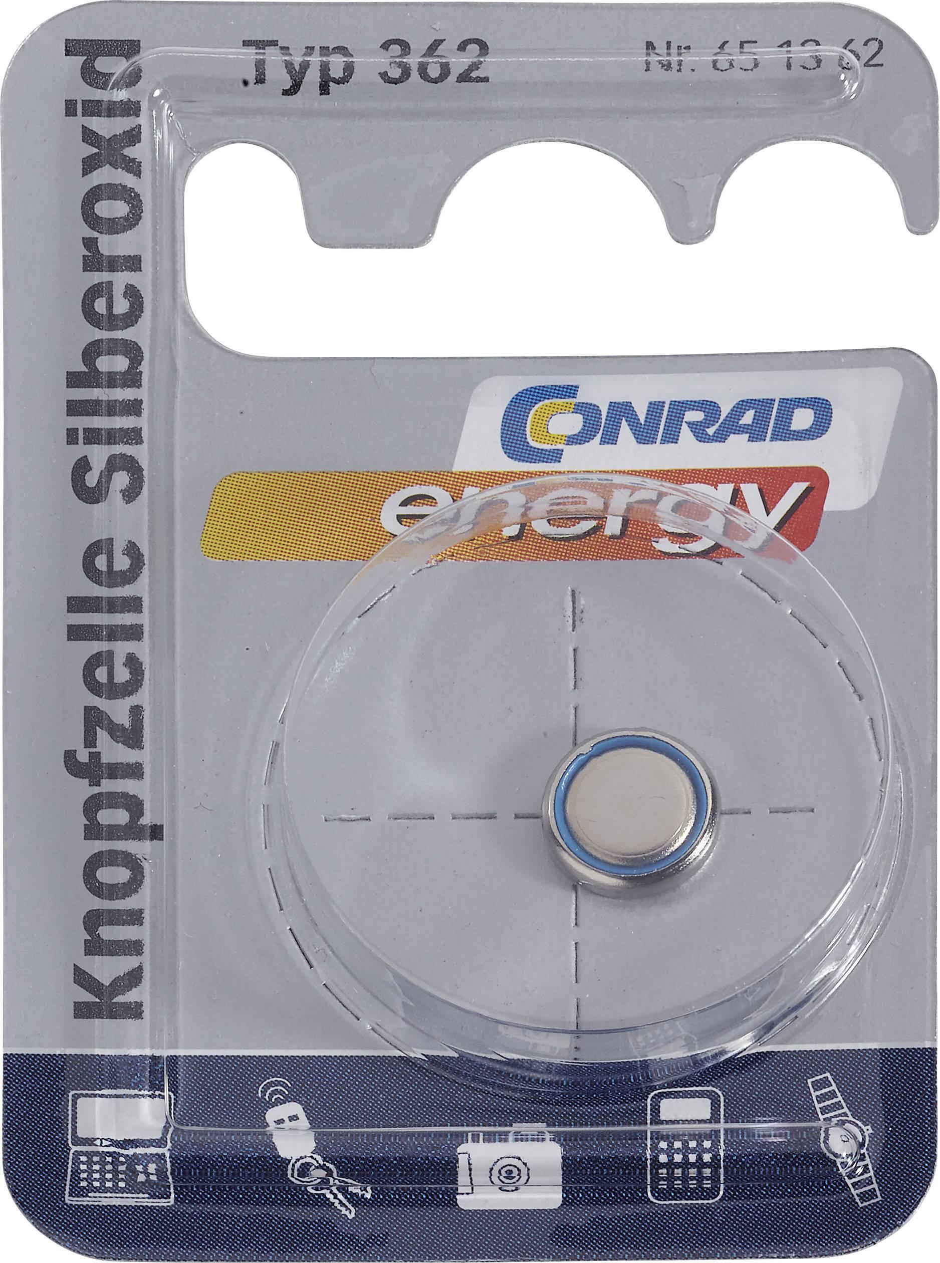 Knoflíková baterie 362, Conrad energy SR58, na bázi oxidu stříbra
