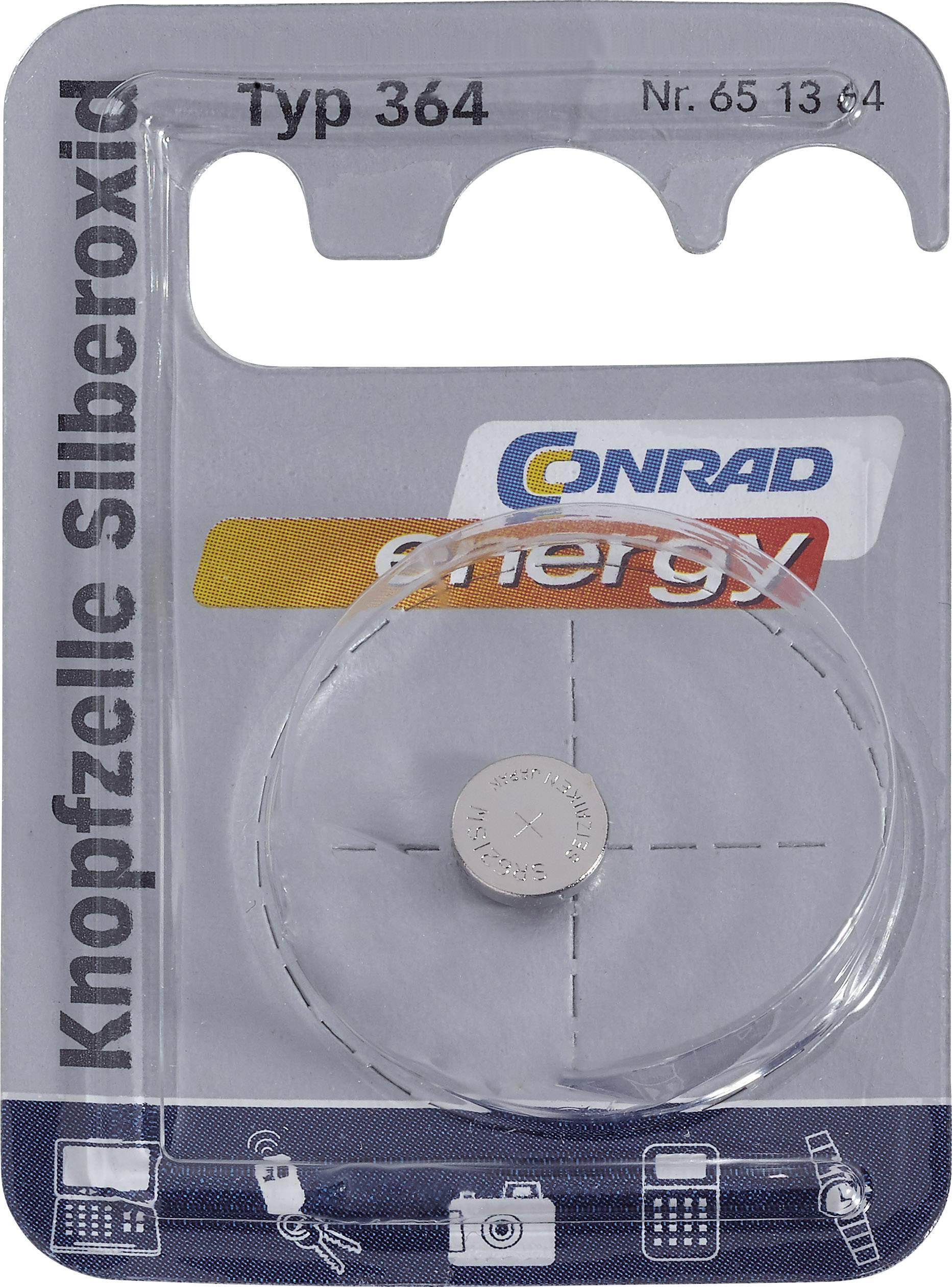 Conrad Energy gombíkové batérie z oxidu strieborného 364