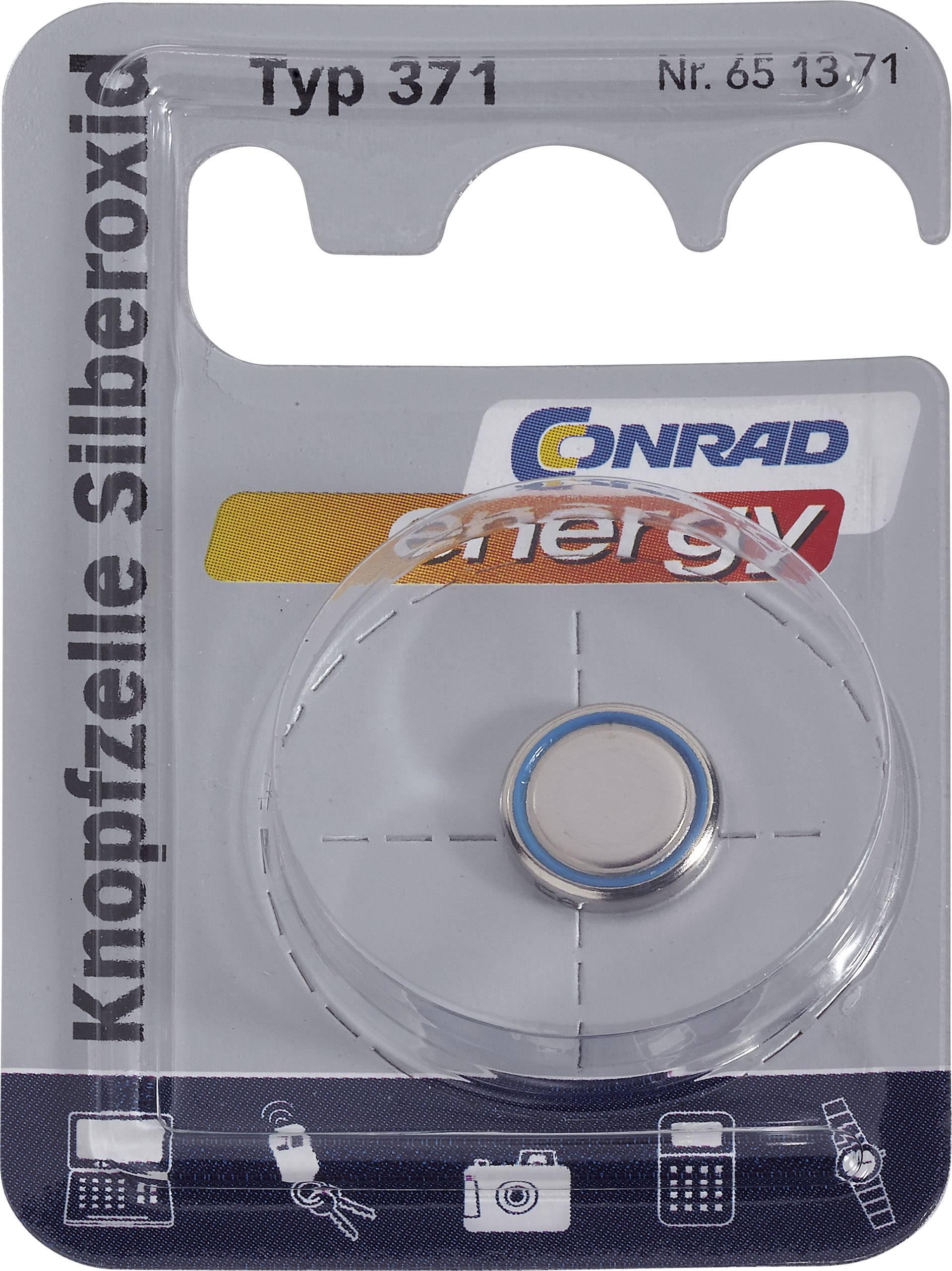 Knoflíková baterie 371, Conrad energy SR69, na bázi oxidu stříbra