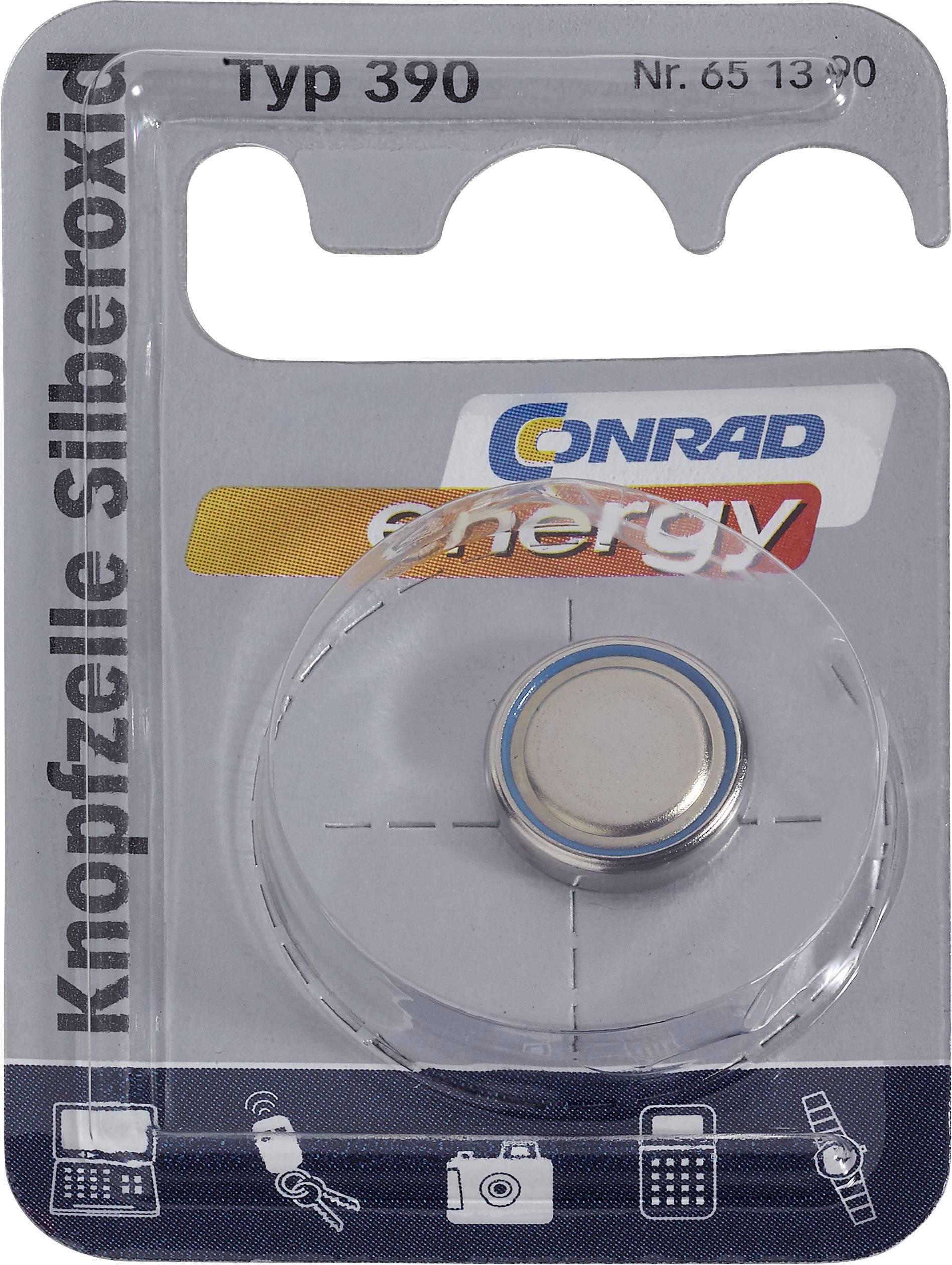 Conrad Energy gombíkové batérie z oxidu strieborného 390