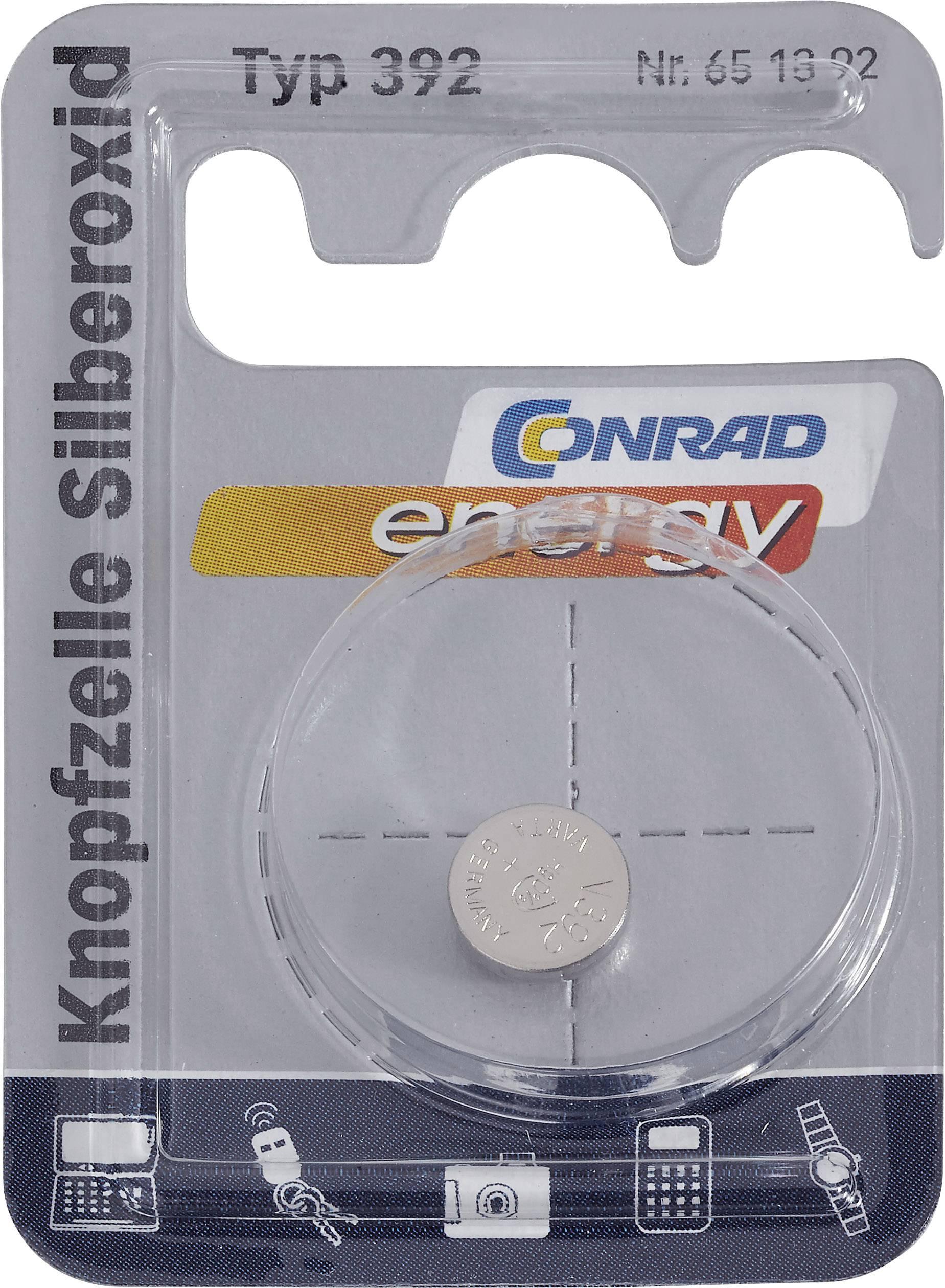 Knoflíková baterie 392, Conrad energy SR41, na bázi oxidu stříbra