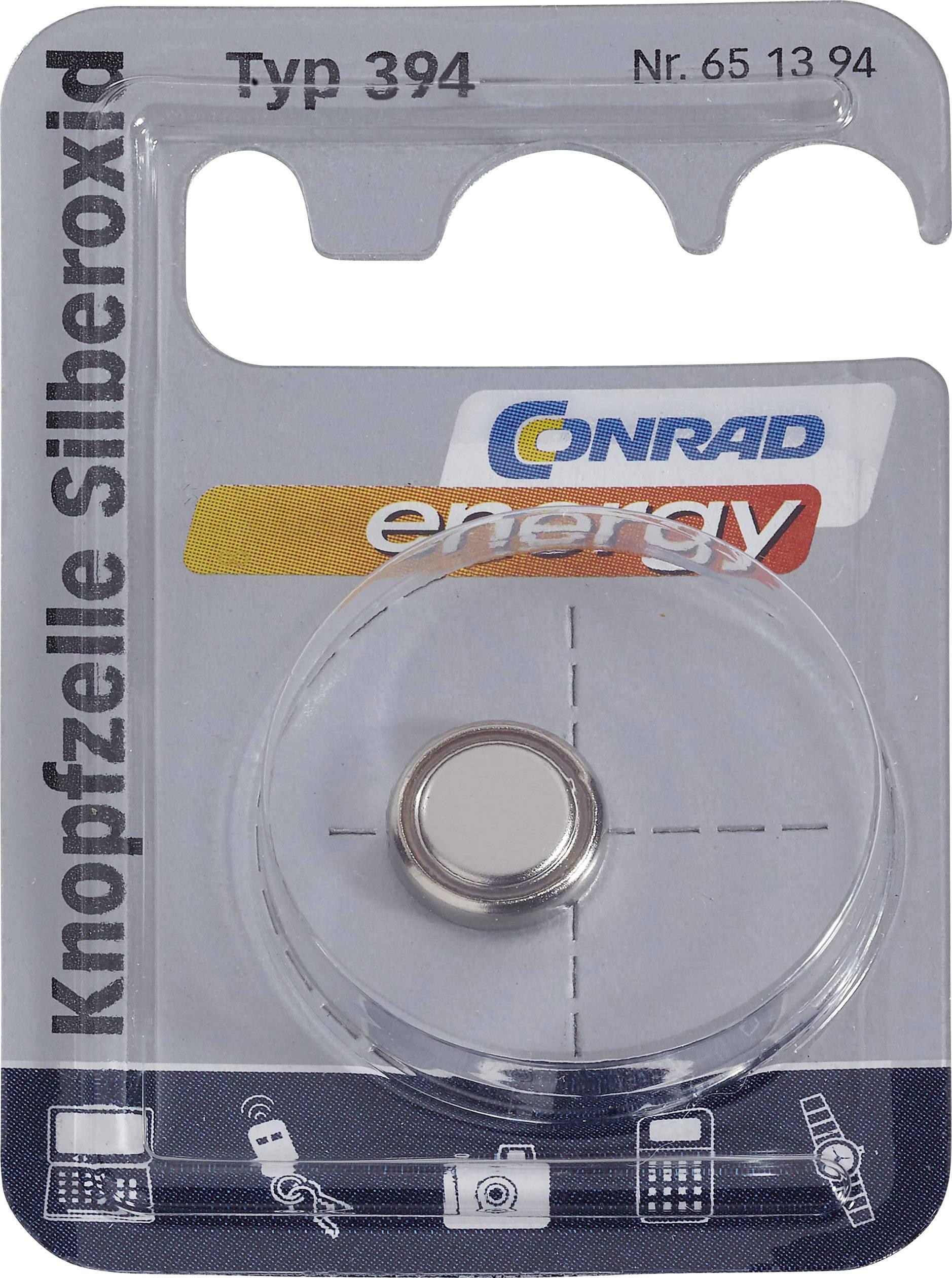 Conrad Energy gombíkové batérie z oxidu strieborného 394