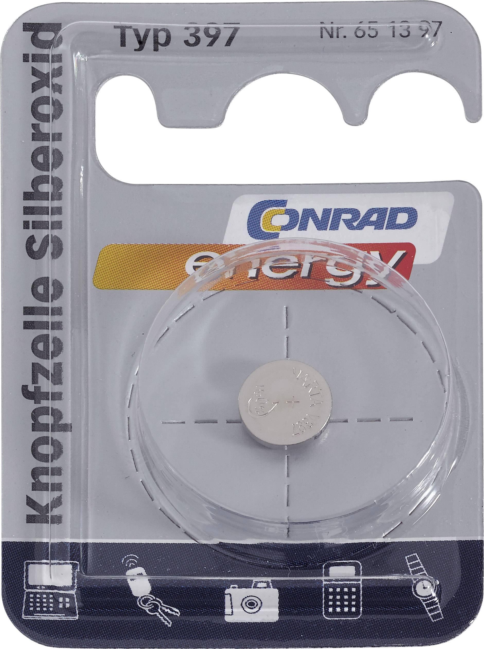 Knoflíková baterie 397, Conrad energy SR59, na bázi oxidu stříbra