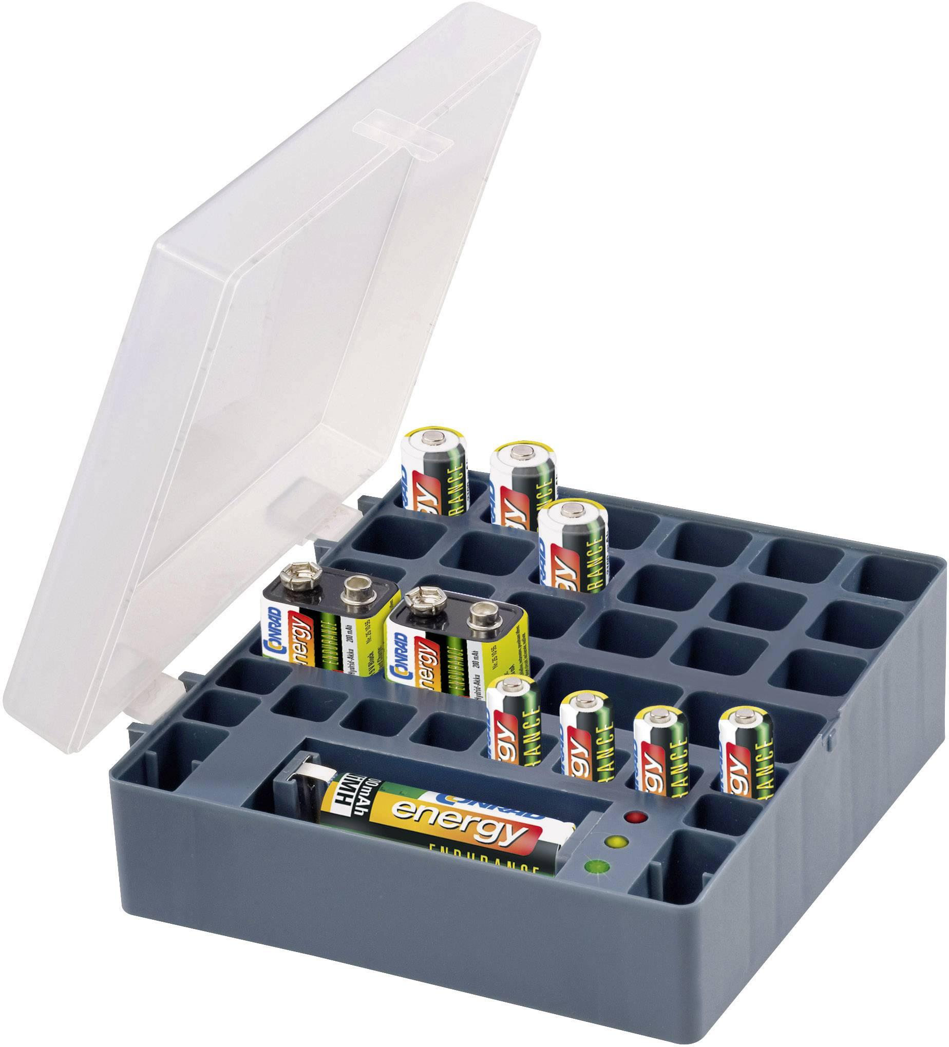 Box na akumulátory + 10 akumulátorů Conrad energy Endurance
