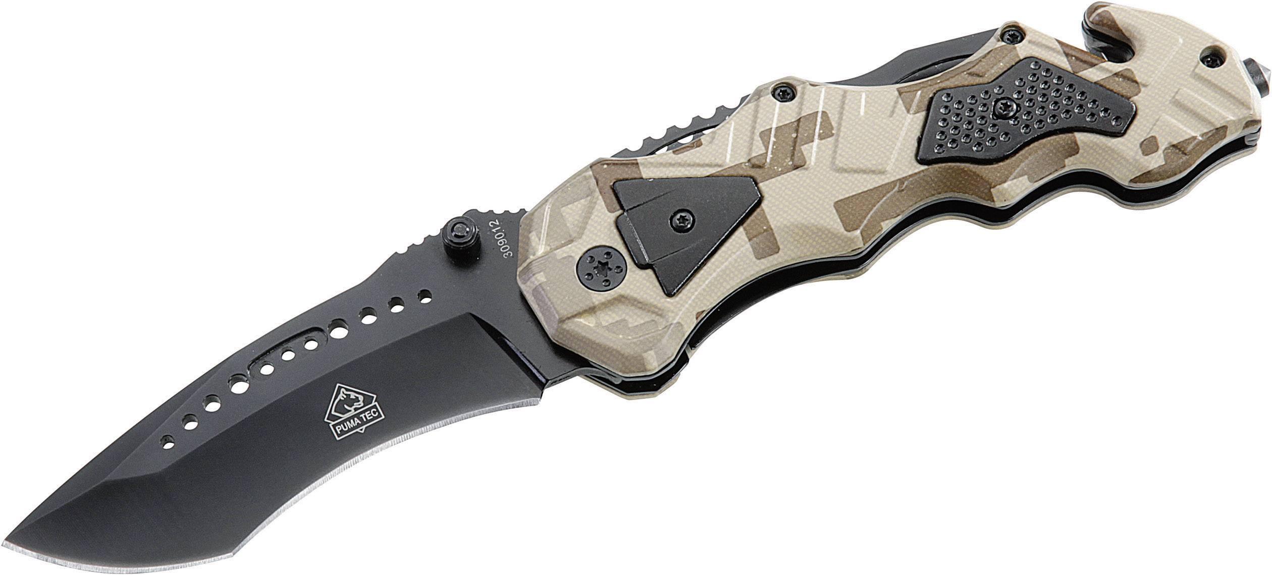 Záchranářský nůž PumaTec Tarn, černě potažený 7309012
