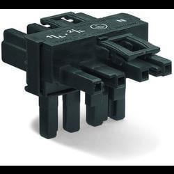 Síťový T rozdělovač síťová zástrčka - síťová zásuvka, síťová zásuvka počet kontaktů: 4, bílá, 50 ks