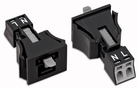 Síťový konektor WAGO zástrčka, rovná, počet kontaktů: 2, 16 A, 250 V, bílá, 50 ks