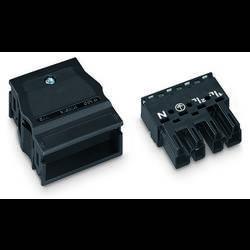 Síťový konektor WAGO zástrčka, rovná, počet kontaktů: 4, 25 A, 400 V, černá, 25 ks
