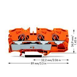 Průchodková svorka WAGO 2010-1302, pružinová svorka, 10 mm, oranžová, 25 ks