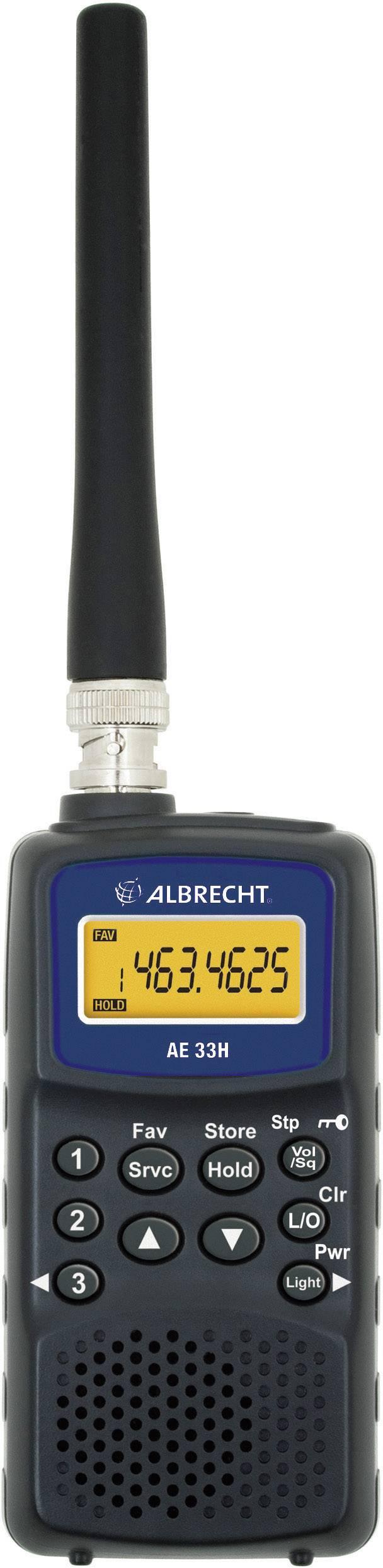 Rádiový ruční skener Albrecht AE 33 H