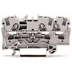 Průchodková svorka WAGO 2004-1305, pružinová svorka, 6.20 mm, černá, 50 ks