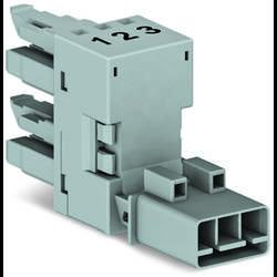 Síťový H rozdělovač síťová zástrčka - síťová zásuvka, síťová zásuvka počet kontaktů: 3, růžová, 50 ks