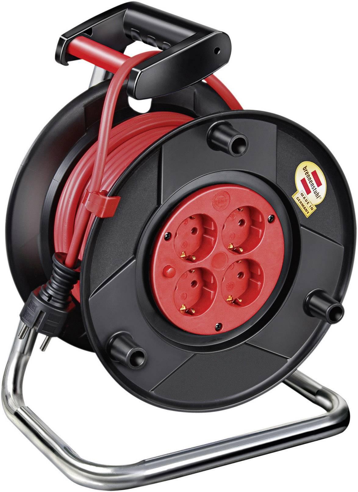 Kabelový buben Brennenstuhl Garant 240, 1218450794, 4 zásuvky, 20 m, červená
