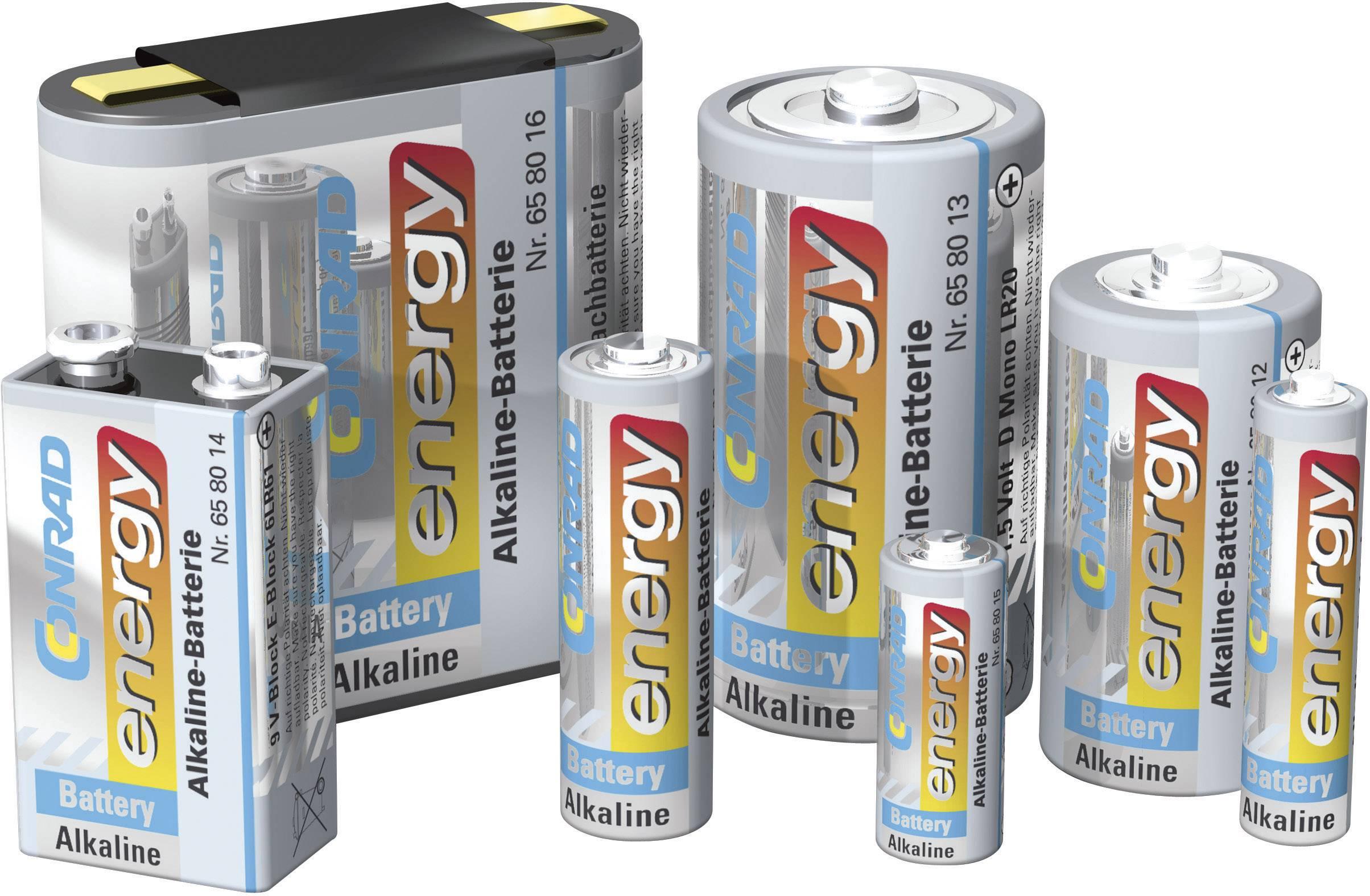 Alkalická batéria CONRAD ENERGY velké mono, 1,5 V