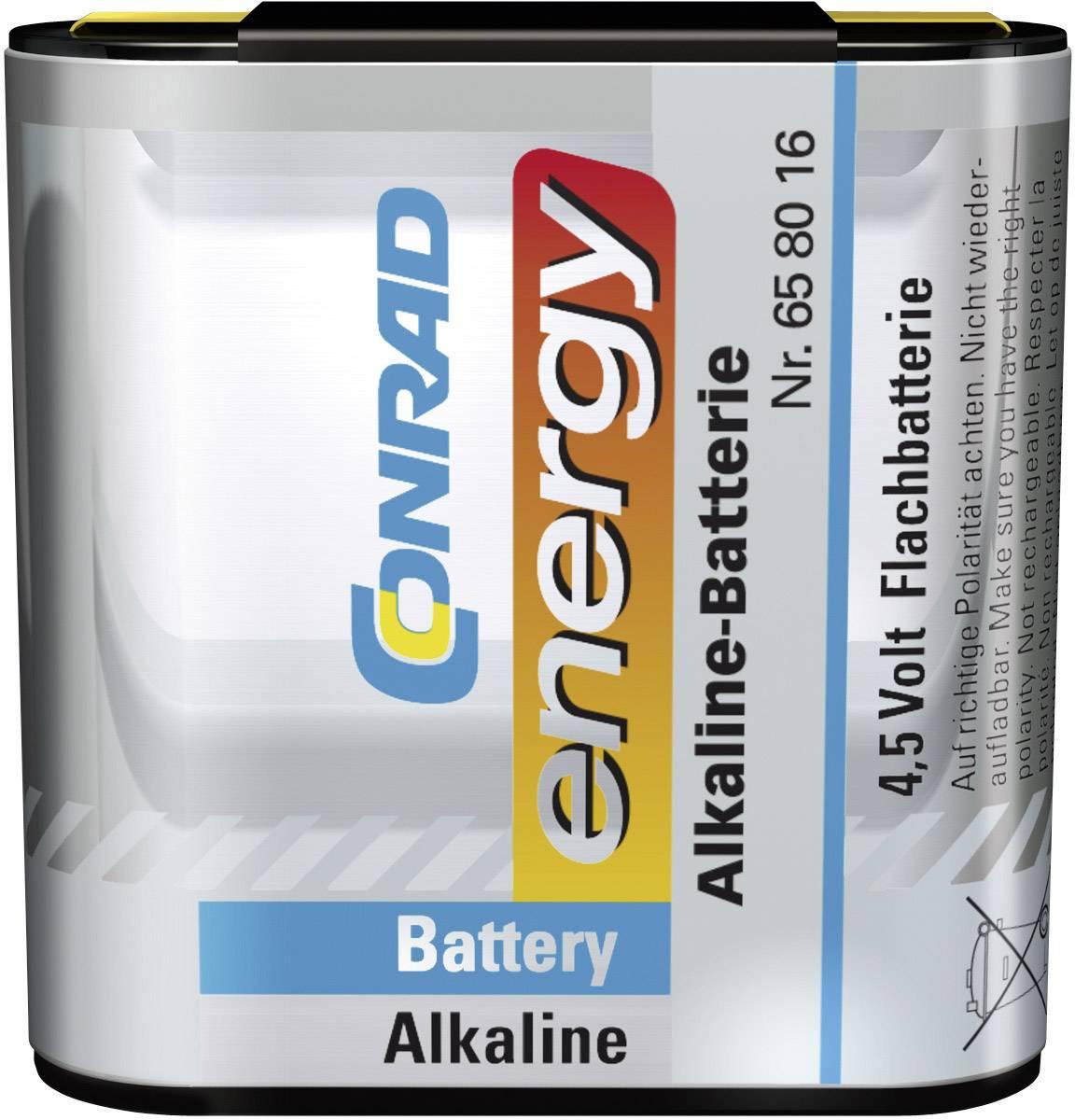 Alkalická batéria Conrad Energy, typ plochá, 4.5 V
