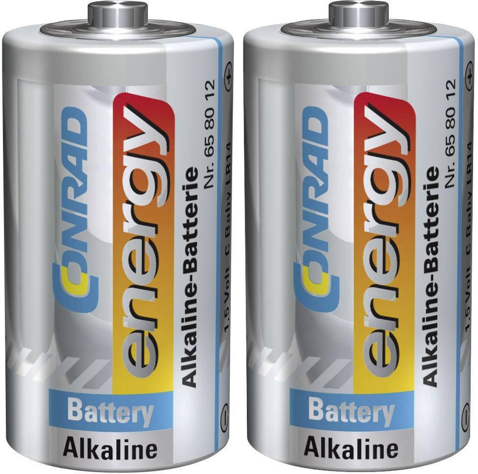 Alkalická baterie Conrad Energy, typ C, 2 ks