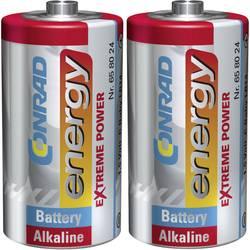 Alkalická baterie Conrad Energy Extreme Power, typ C, 2 ks