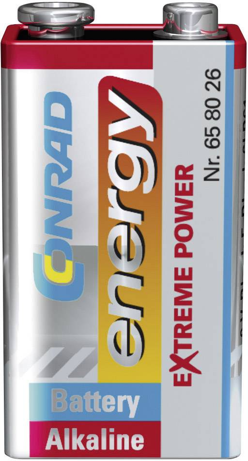 Alkalická baterie Conrad Energy Extreme Power 9V