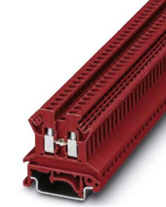 Průchozí svorka řadová Phoenix Contact UK 2,5 N RD (0719074), šroubovací, 5,2 mm, červená