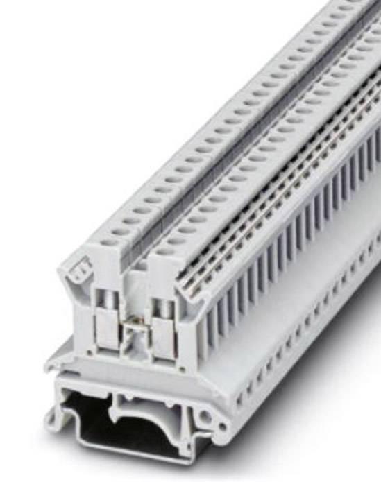 Průchozí svorka řadová Phoenix Contact UK 2,5 N WH (0719090), šroubovací, 5,2 mm, bílá