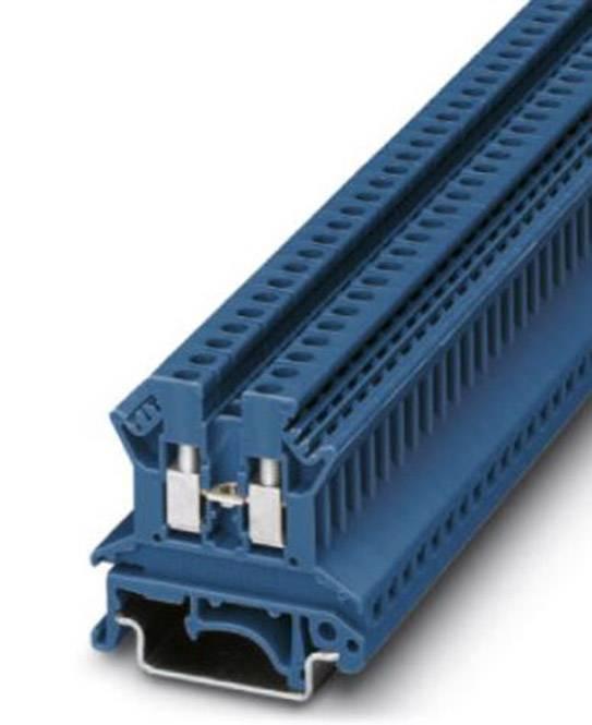 Průchozí svorka řadová Phoenix Contact UK 2,5 N BU (3003350), šroubovací, 5,2 mm, modrá