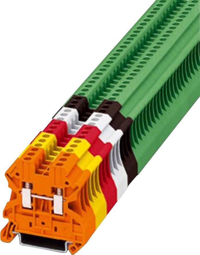 Průchozí svorka řadová Phoenix Contact UT 2,5 RD (3045062), šroubovací, 5,2 mm, červená