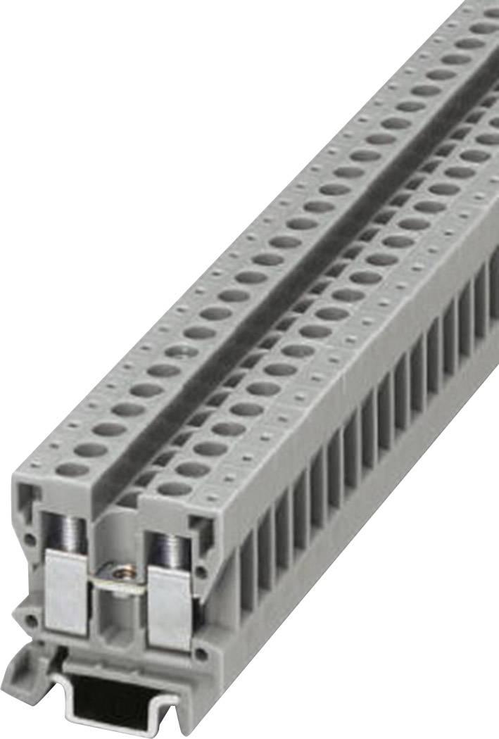 Průchozí svorka řadová Phoenix Contact MBK 2,5/E (1414006), šroubovací, 5,2 mm, šedá
