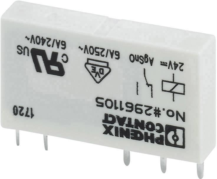 Relé do DPS Phoenix Contact 2961105, 24 V/DC, 6 A, 1 prepínací, 1 ks