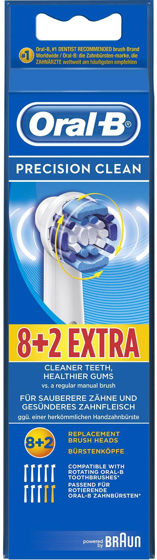 Náhradní hlavice pro elektrický zubní kartáček Oral-B Precision Clean, 10 ks