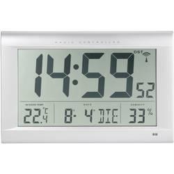 Digitální nástěnné DCF hodiny Jumbo s vlhkoměrem