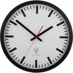 Nádražní DCF nástěnné hodiny EUROTIME 56862, Vnější Ø 40 cm, černá