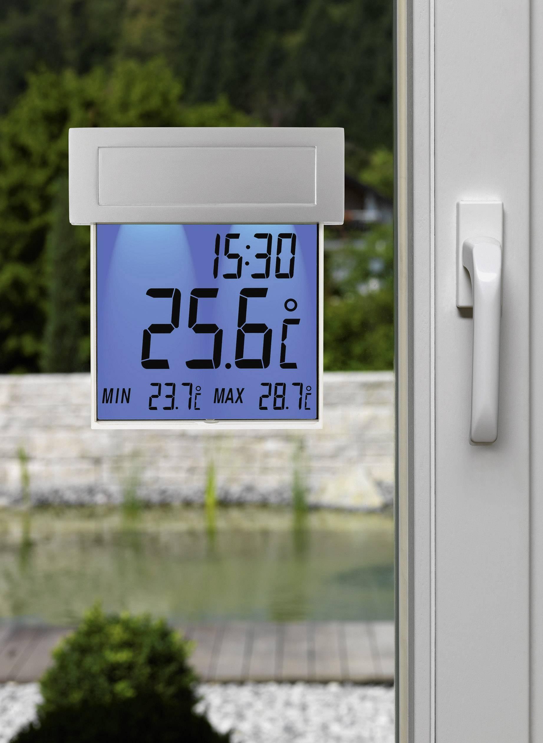 Solárny teplomer na okno s podsvieteným displejom TFA 30.1035