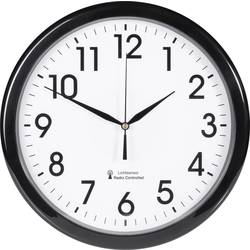 Analogové DCF nástěnné hodiny se soumrakovým senzorem EuroTime, Ø 30,5 x 4,5 cm,
