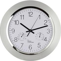Analógové nástenné DCF hodiny s teplomerom a vlhkomerom, 34cm