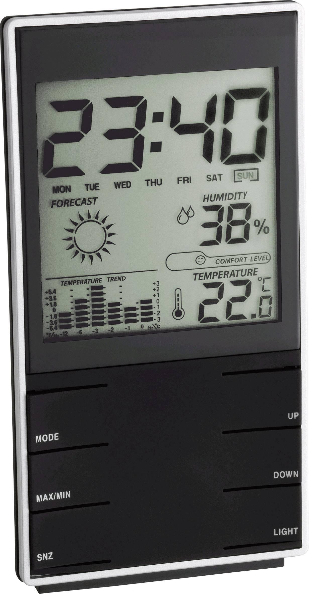 Digitálna bezdrôtová meteostanica TFA Komfort 35.1102.01, čierna