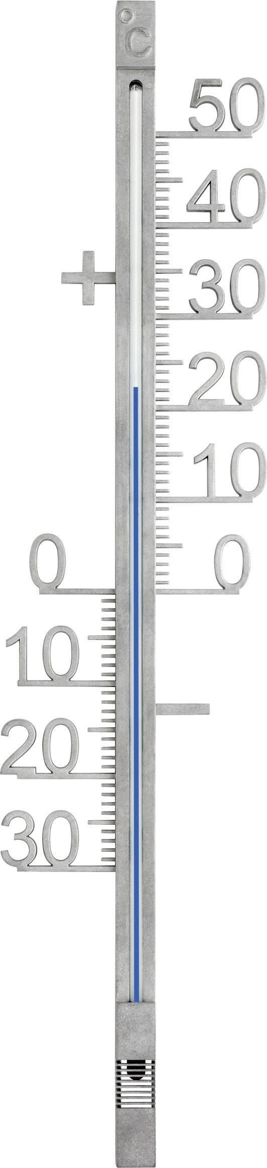 Teplomer TFA 12.5011, kov, strieborná