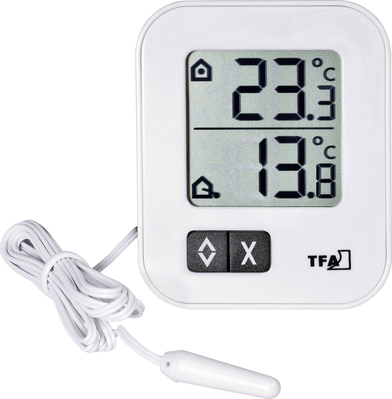 Digitálny teplomer pre vnútornú/vonkajšiu teplotu TFA 30.1043
