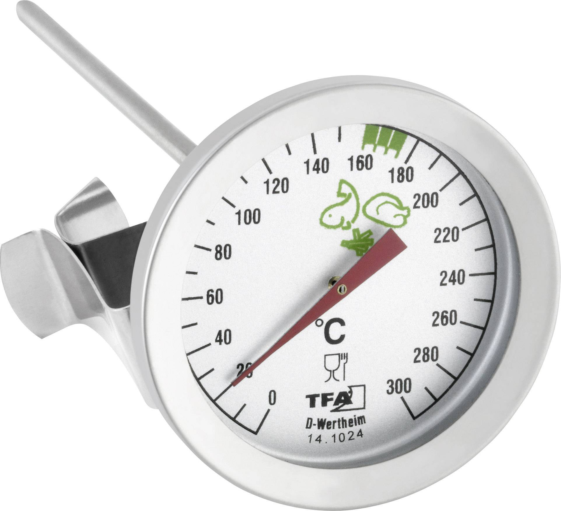 Analogový vpichovací teploměr TFA, 0 až 300 °C, nerez