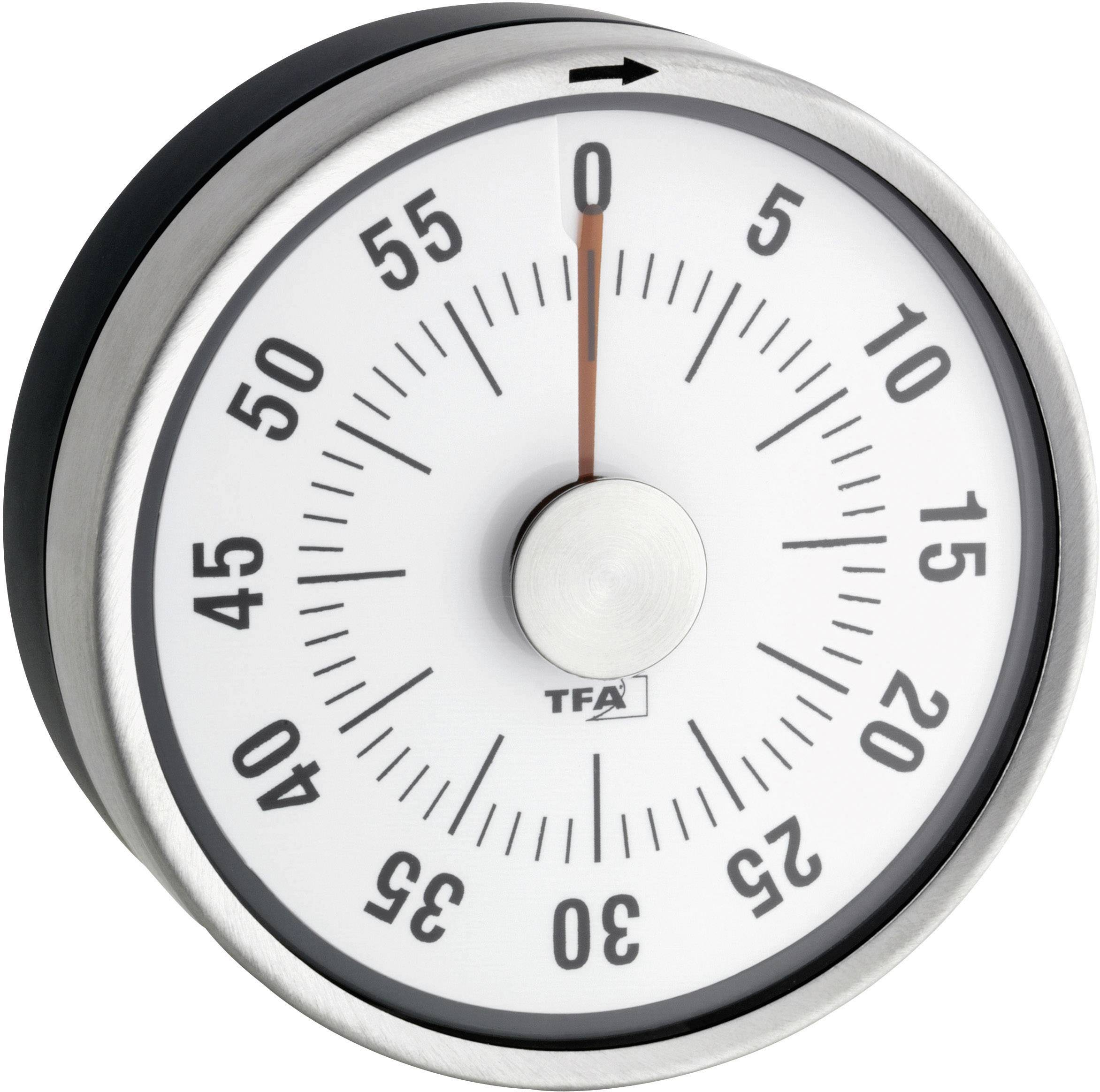 Kuchyňská minutka Puck TFA, 38-1028-10, 79 x 33 mm, antracit