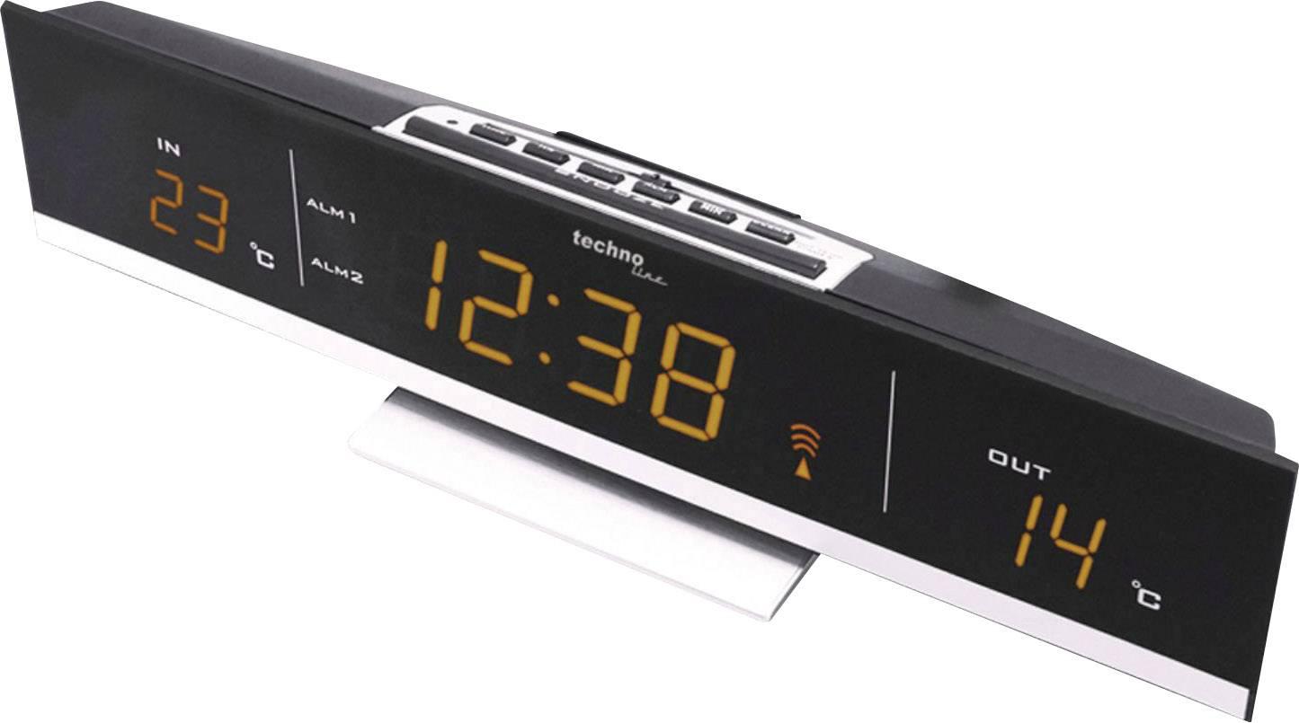 Bezdrôtové hodiny s teplomerom Techno Line WS 6810, oranžové