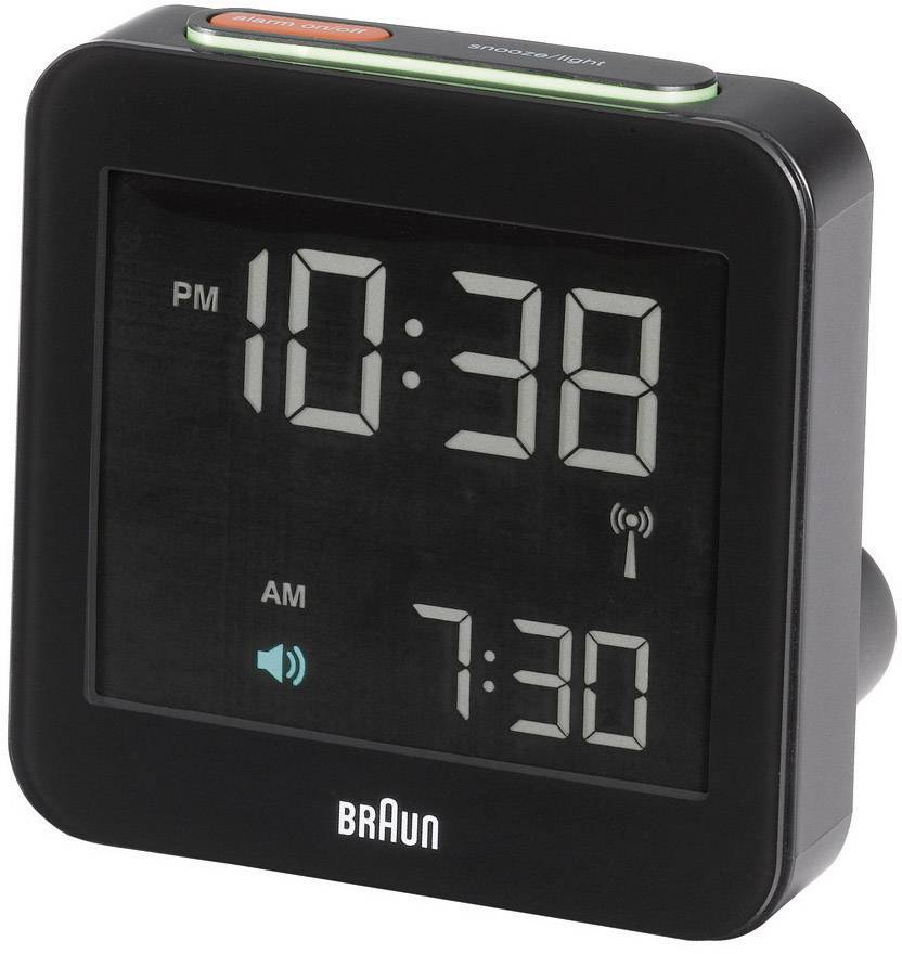 DCF budík Braun Multiband XL 66018, časů buzení 1, černá