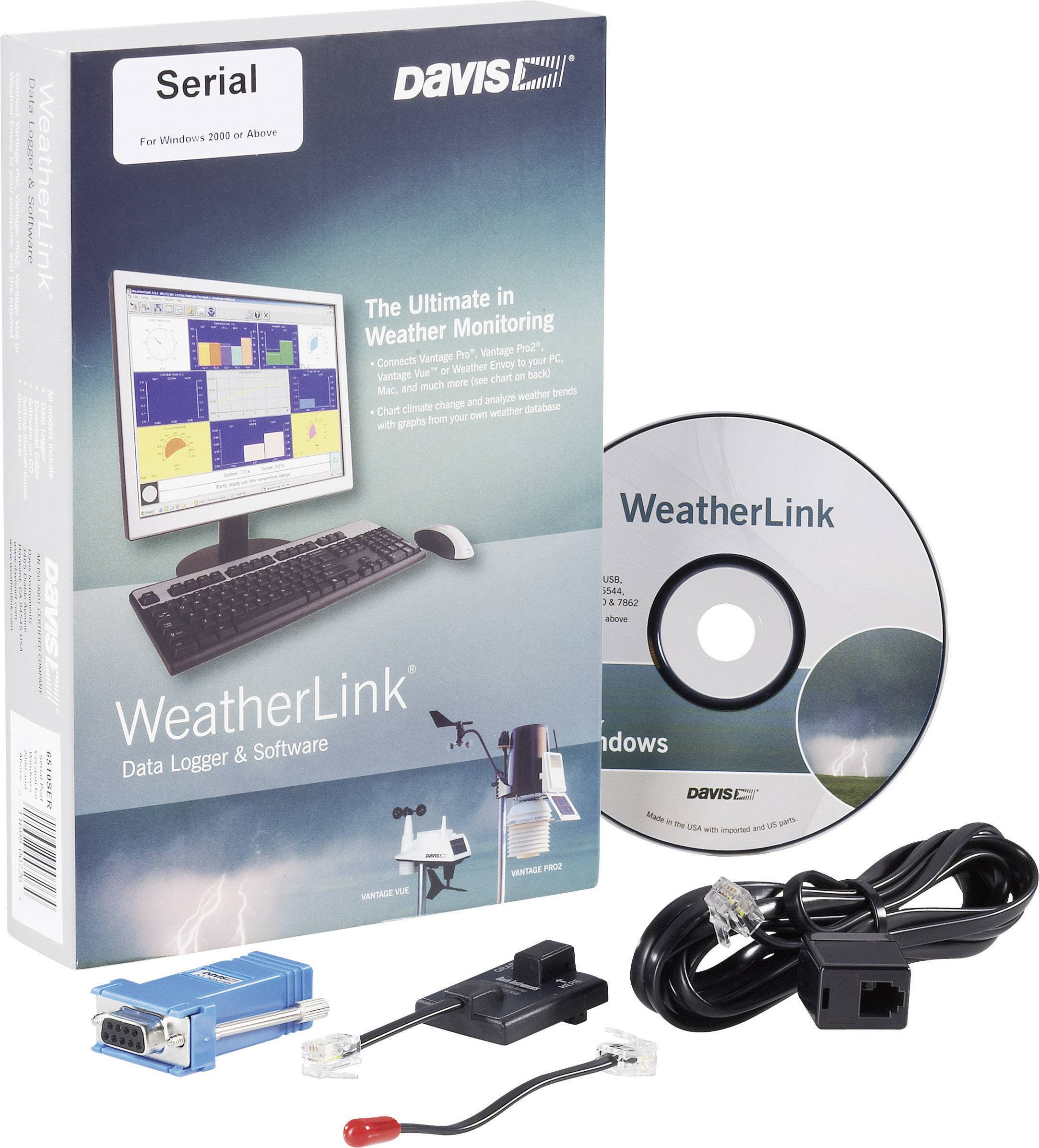 Software Davis Instruments Weather Link, sériový port