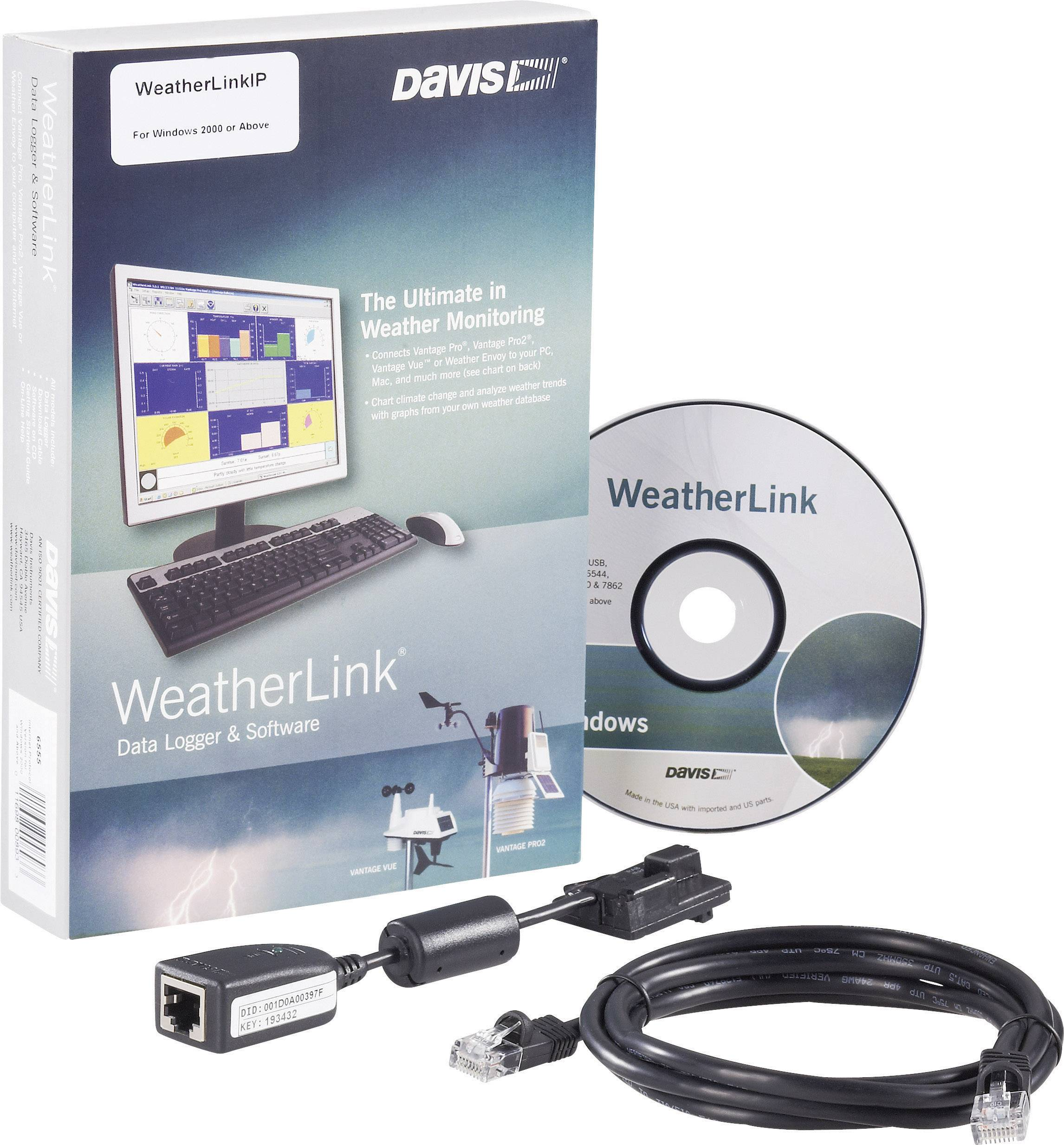 Software Davis Instruments Weather Link, IP RJ45