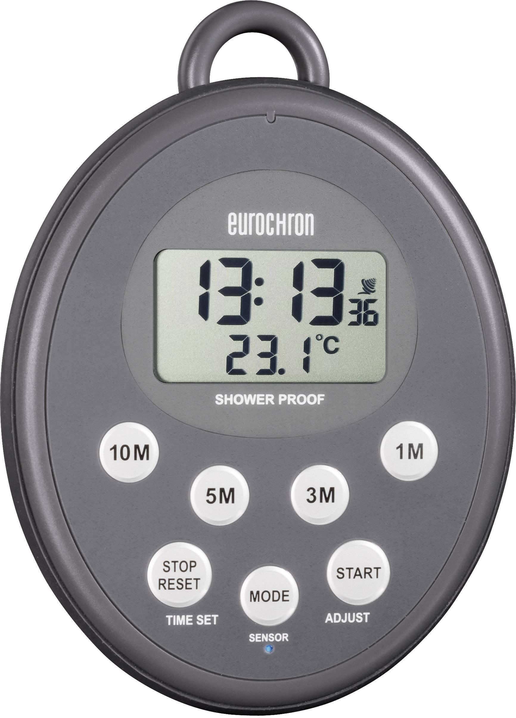 Digitálny časovač s DCF hodinami Eurochron EDT 3000, IPX 7