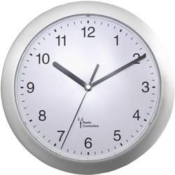 DCF nástěnné hodiny EUROTIME 56787, Vnější Ø 25 cm, stříbrná