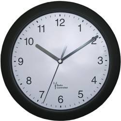 DCF nástenné hodiny EUROTIME 56785, Vonkajší Ø 25 cm, čierna