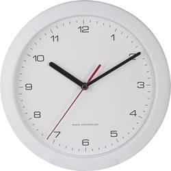 DCF nástenné hodiny EUROTIME 56786, Vonkajší Ø 25 cm, biela